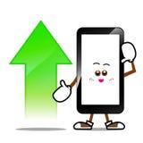 Téléphone portable, bande dessinée futée de téléphone Photo stock
