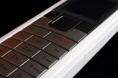 Téléphone portable blanc Photographie stock