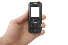 Téléphone portable blanc avec des chemins de découpage Images libres de droits