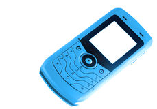 Téléphone portable bleu Photo stock