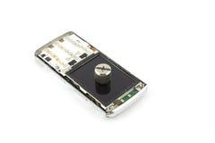 Téléphone portable cassé Image stock