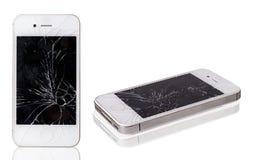 Téléphone portable cassé Photo stock