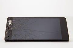Téléphone portable cassé Images libres de droits