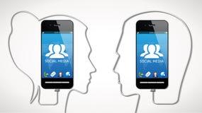 Téléphone portable - concept de communication photographie stock libre de droits