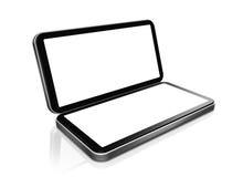 Téléphone portable - console tenue dans la main portative de jeu Image stock