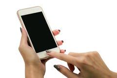 Téléphone portable d'écran tactile, à disposition Images stock