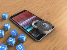 téléphone portable 3D Photos stock