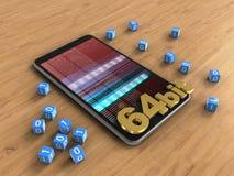 téléphone portable 3D Image stock