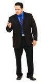 téléphone portable d'homme d'affaires Photo libre de droits