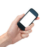 Téléphone portable dans la main Photo stock