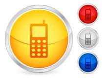 téléphone portable de bouton Photo stock