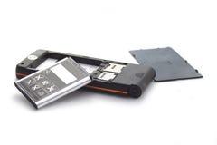 Téléphone portable de Brocken d'isolement sur le blanc photographie stock libre de droits
