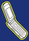 Téléphone portable de chiquenaude de téléphone portable de chiquenaude illustration libre de droits