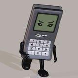 Téléphone portable de dessin animé avec f émotif mignon et drôle Image libre de droits