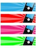 téléphone portable de drapeau Image libre de droits