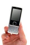 téléphone portable de mâle de fixation de main Images stock