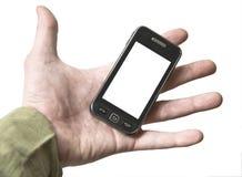 Téléphone portable de main Photos libres de droits