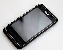 Téléphone portable de mouvement d'atterrisseur Photo libre de droits