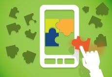 Téléphone portable de puzzle Photos stock