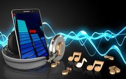téléphone portable du blanc 3d Photo libre de droits