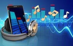 téléphone portable du spectre 3d Photos libres de droits