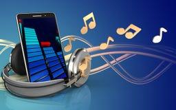téléphone portable du téléphone portable 3d Images stock