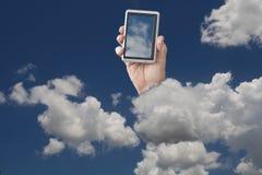 Téléphone portable en nuages Image libre de droits