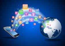 Téléphone portable futuriste Photographie stock libre de droits