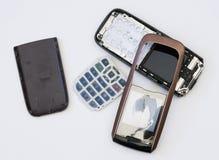 Téléphone portable heurté Photographie stock libre de droits
