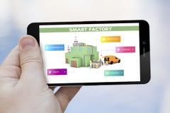 téléphone portable intelligent d'usine Photographie stock