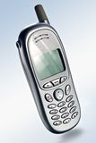 Téléphone portable mobile argenté Images stock