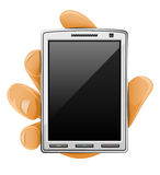 Téléphone portable moderne à disposition Illustration de Vecteur