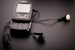 Téléphone portable noir Images libres de droits