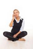 Téléphone portable parlant images stock