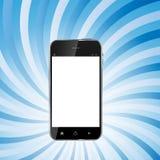 Téléphone portable réaliste de conception abstraite avec le blanc Image stock