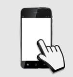 Téléphone portable réaliste de conception abstraite avec le blanc Image libre de droits