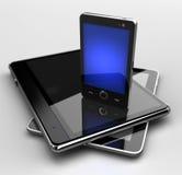 Téléphone portable rougeoyant Image libre de droits