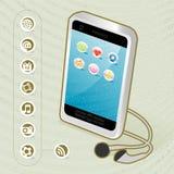 Téléphone portable sans fil générique Photographie stock