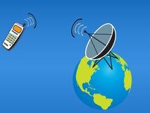 Téléphone portable satellite illustration de vecteur
