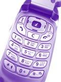Téléphone portable violet Photographie stock