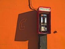Téléphone public Image libre de droits