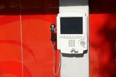 Téléphone public Image stock