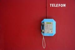 Téléphone public Photo stock