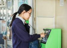 Téléphone public au Japon Photo libre de droits