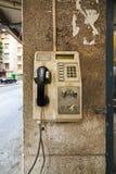 Téléphone public de carte d'abandon Images libres de droits