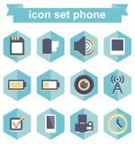 Téléphone réglé d'icône Image libre de droits