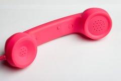 Téléphone rose Images libres de droits