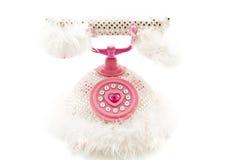 Téléphone rose pelucheux Photo libre de droits