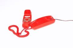 Téléphone rouge. Photos libres de droits