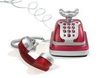 Téléphone rouge 2 Images libres de droits